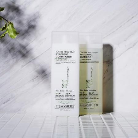 El Champú Tea Tree Triple Treat de Giovanni es el mejor champú para pelo graso. Sin siliconas sin sulfatos. Hidrata, limpia y refresca.