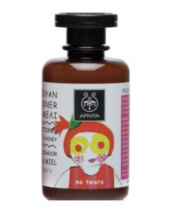 Apivita champú & acondicionador. Mejor champú natural para bebés y niños. Un champú orgánico, sin sulfatos, sin parabenos, pH neutro, hidratante y suave.
