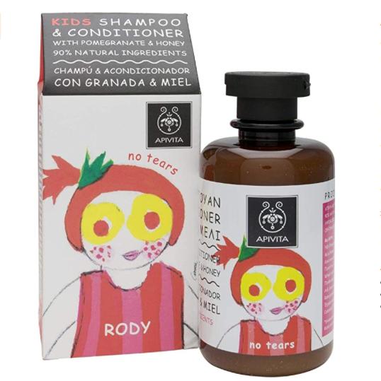 Apivita. El mejor champú natural para bebés y niños. Champús de ingredientes naturales para niños sin sulfatos, pieles sensibles, pelo suave.