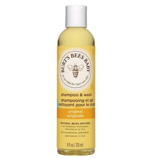 Burt's Bees. El mejor champú natural para bebés y niños. Champús de ingredientes naturales para niños sin sulfatos, pieles sensibles, pelo suave.