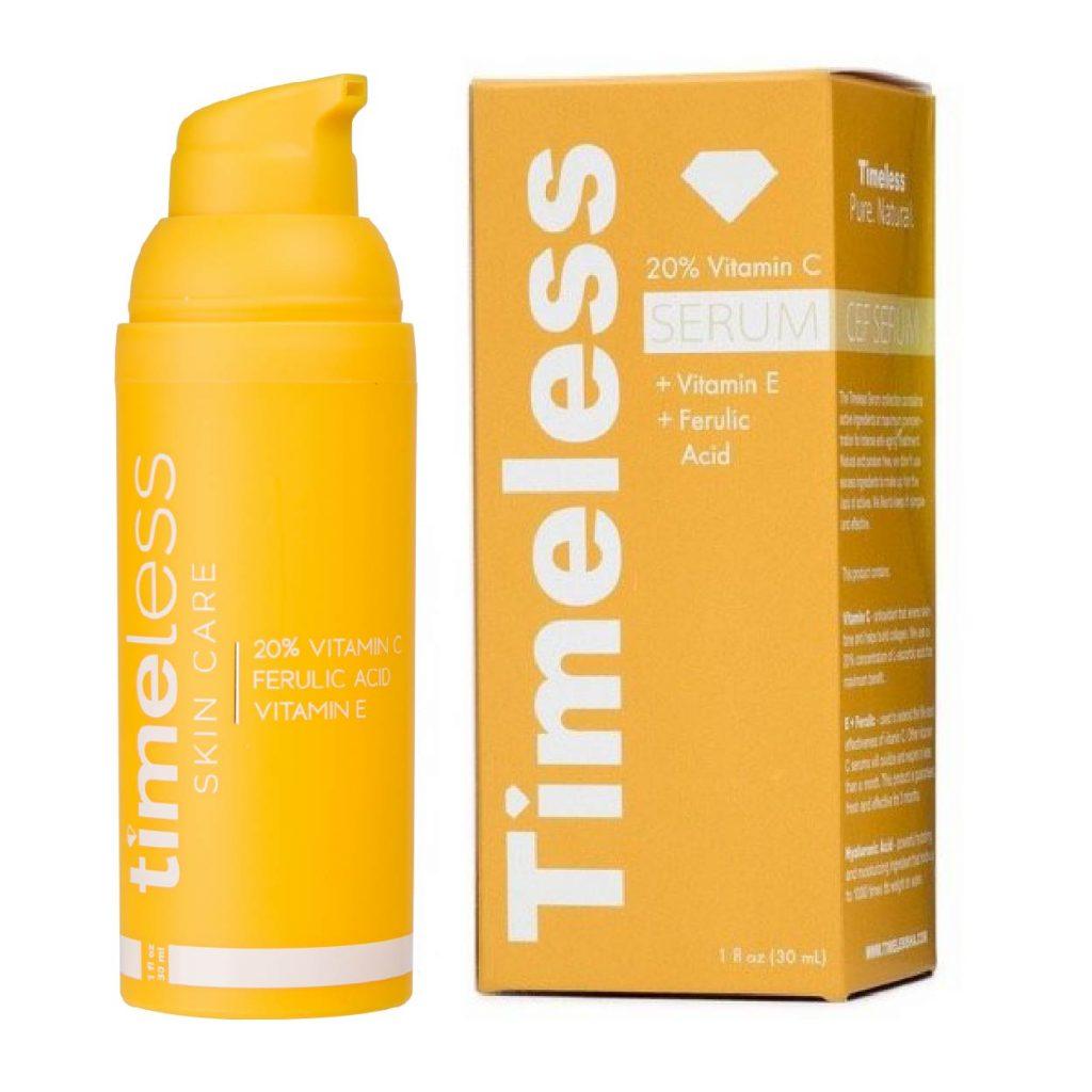 Vitamin-C-E-Ferulic Serum Timeless El mejor sérum vitamina C antiedad. Producto de belleza para cuidado facial: Antioxidante, manchas. Timeless Skinceuticals Martiderm Nezeni