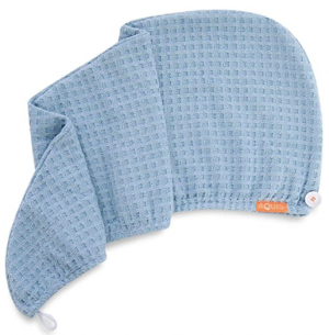 Peinado al aire para dummies con un turbante para el pelo de microfibra Turbante wafle Aquis
