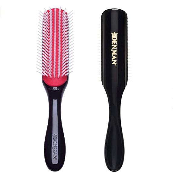 Cepillo Denman para pelo rizado. Elige el mejor tipo de cepillo de pelo para tener una melena sana. Cabello fino, grueso, rizado, largo, delicado.