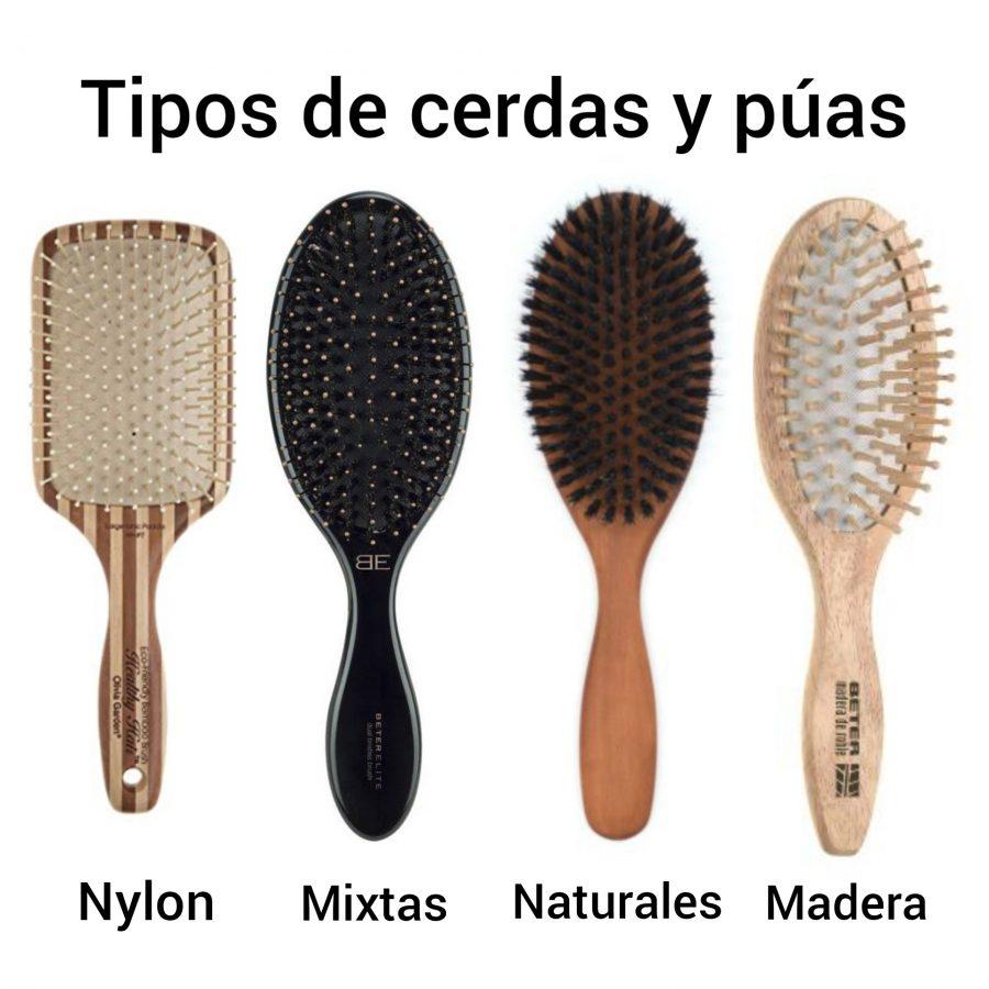 Tipos de cerdas y púas. Elige el mejor tipo de cepillo de pelo para tener una melena sana. Cabello fino, grueso, rizado, largo, delicado.