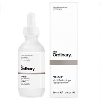 Mis pasos en el cuidado facial de día. Tónico, sérum, crema hidratante, limpiador, productos de belleza, ácido hialurónico, antioxidante. The Ordinary Buffet