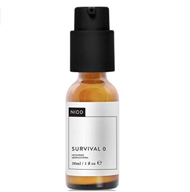 Mis pasos en el cuidado facial de día. Tónico, sérum, crema hidratante, limpiador, productos de belleza, ácido hialurónico, antioxidante. NIOD - Survival 0