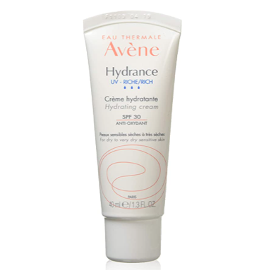 Mis pasos en el cuidado facial de día. Tónico, sérum, crema hidratante, limpiador, productos de belleza, ácido hialurónico, antioxidante. Avéne Hydrance UV Rich