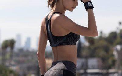 El conjunto de sujetador deportivo y leggings que amo