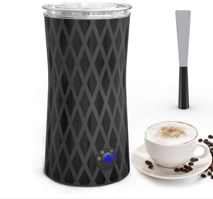 Emulsionador de leche eléctrico en negro