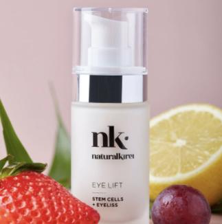 Naturalkirei Eye Lift. Aceite vitamina e. Propiedades antioxidantes. Cosmética natural hidratante y antiedad para la piel.